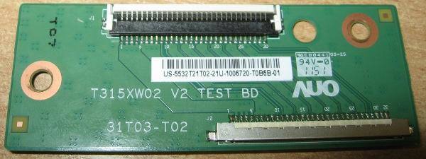 Logic Board T315XW02 V2 31T03-T02 от телевизора LG 32LS3510-ZB
