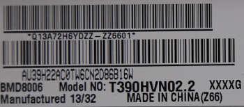 матрица T390HVN02.2