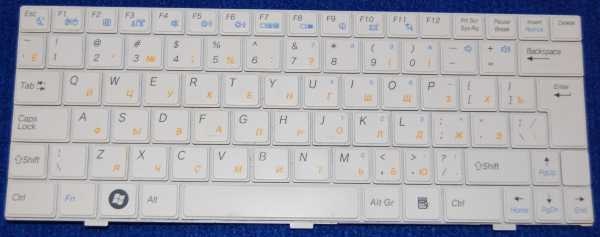 Клавиатура V111299AK от нетбука iRU белая б/у