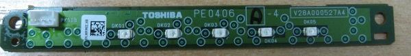 IR Sensor Board PE0406 A-2 V28A000527A4 от телевизора Toshiba 40XF350PR