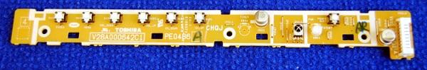 IR and Button Board PE0486 V28A000642C1 от телевизора Toshiba 32AV500PR