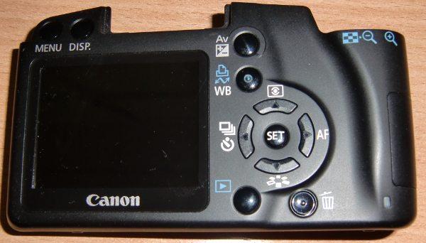 Задняя панель с LCD-экраном и кнопками управления от фотоаппарата Canon 1000D (Rebel XS, DS126191)