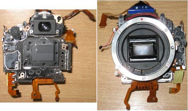 Блок затвора (Mirror box Assy) c видоискателем от фотоаппарата Canon 1000D (Rebel XS, DS126191)