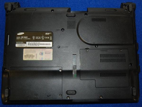 Корпус (вид снизу) от ноутбука Samsung NP-R20Y, б/у