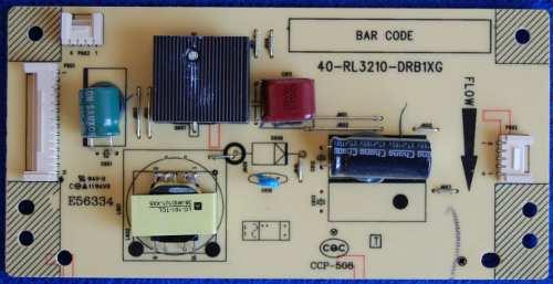 Плата инвертера (Inverter Board) 40-RL3210-DRB1XG от телевизора Thomson T32ED33U