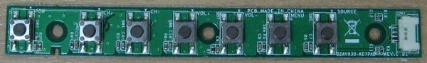 Key Controller Board 32AV833 (E227809)(Плата с кнопками)  от телевизора Toshiba 32EL833R