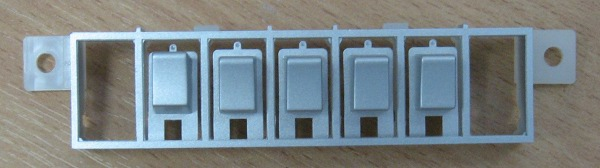 Пластиковая накладка на кнопки от телевизора Panasonic TH-R42EL8KA
