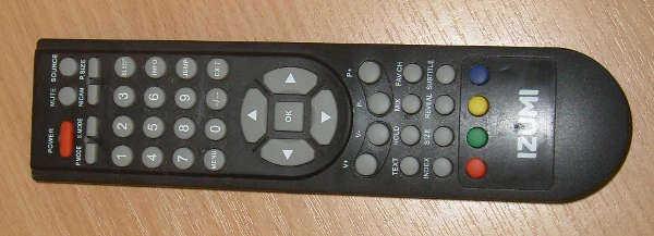 Remote control (Пульт ДУ)от телевизора IZUMI TLE19H300B