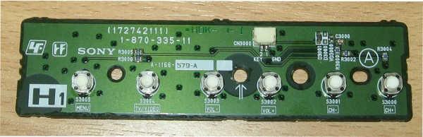 Key Controller Board 1-870-335-11 (Плата управления с кнопками)  от телевизора Sony KDS-55A2000