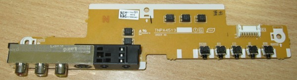 Buttons AV Input Board TNPA4513 от телевизора Panasonic TH-R42EL8KA, TH-R42EL80K, TH-R42PV80